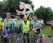 Des belmontais sur une étape du Circuit de la Sarthe cyclo